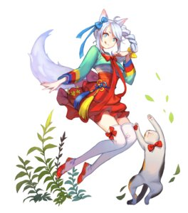 Rating: Safe Score: 32 Tags: animal_ears ask_(dreaming_cat) kitsune neko thighhighs User: nphuongsun93