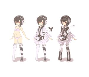 Rating: Questionable Score: 27 Tags: bra garter loli lolita_fashion pantsu thighhighs tsliuyixin User: Radioactive