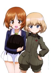 Rating: Safe Score: 28 Tags: girls_und_panzer katyusha nishizumi_miho seifuku uniform User: drop