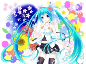 Rating: Safe Score: 27 Tags: hatsune_miku setona thighhighs vocaloid wallpaper User: ddns001