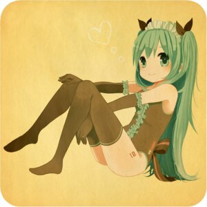 Rating: Safe Score: 23 Tags: hatsune_miku ruchiru thighhighs vocaloid User: Nekotsúh