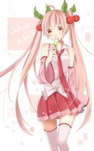 Rating: Safe Score: 31 Tags: hatsune_miku mai_mugi sakura_miku thighhighs vocaloid User: Zenex