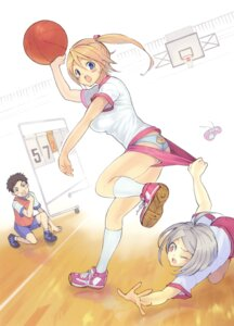 Rating: Questionable Score: 13 Tags: basketball buruma gym_uniform kinoshita_kotetsu pantsu panty_pull User: petopeto