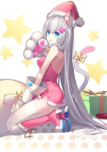 Rating: Safe Score: 52 Tags: animal_ears christmas dress heels qiongsheng stockings tail thighhighs User: Mr_GT