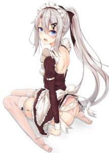 Rating: Questionable Score: 45 Tags: 9a-91_(girls_frontline) ass garter_belt girls_frontline ko_katakuchiiwashi maid pantsu skirt_lift stockings thighhighs User: Nepcoheart