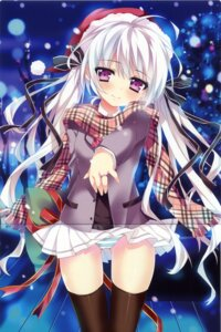Rating: Questionable Score: 37 Tags: anapom cameltoe christmas crease pantsu shimapan thighhighs User: fireattack