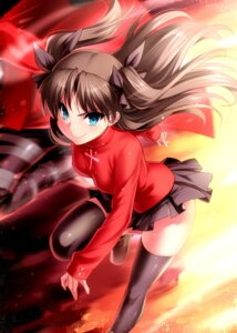 Rating: Safe Score: 25 Tags: archer fate/stay_night thighhighs toosaka_rin zen User: Mr_GT
