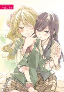 Rating: Safe Score: 30 Tags: aihara_mei aihara_yuzu_(citrus) citrus_(manga) poprication seifuku sweater yuri User: kiyoe