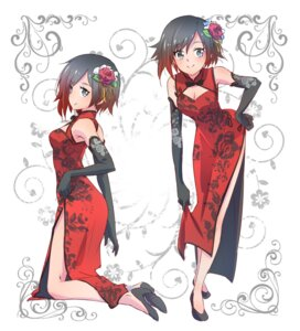 Rating: Safe Score: 39 Tags: chinadress cleavage heels iesupa ruby_rose rwby skirt_lift User: saemonnokami