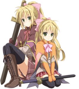 Rating: Safe Score: 17 Tags: punchiki sword thighhighs User: fairyren