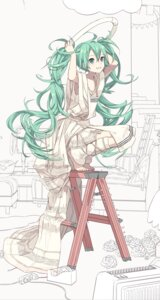 Rating: Safe Score: 52 Tags: dress hatsune_miku ixima line_art vocaloid User: lee1238234