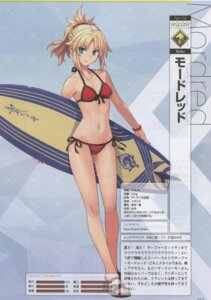 Rating: Questionable Score: 31 Tags: bikini cleavage fate/grand_order konoe_ototsugu mordred_(fate) swimsuits User: Radioactive