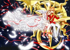 Rating: Safe Score: 5 Tags: card_captor_sakura dress kinomoto_sakura li_syaoran tsuna2727 uniform wings User: charunetra
