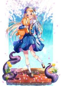 Rating: Safe Score: 12 Tags: abigail_williams_(fate) akirannu fate/grand_order seifuku skirt_lift tentacles User: yanis