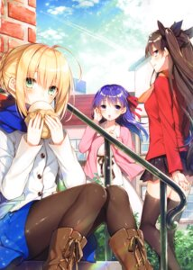 Rating: Safe Score: 25 Tags: alicesyndrome* fate/stay_night matou_sakura saber toosaka_asagi toosaka_rin User: kiyoe