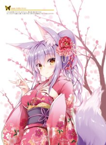Rating: Questionable Score: 35 Tags: animal_ears breast_hold kimono kitsune tail tateha User: Twinsenzw