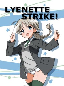 Rating: Safe Score: 21 Tags: lynette_bishop pantsu strike_witches thighhighs yumekaranigeruna User: Radioactive