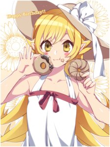 Rating: Safe Score: 28 Tags: bakemonogatari cream dress oshino_shinobu pointy_ears summer_dress yutazou User: Mr_GT