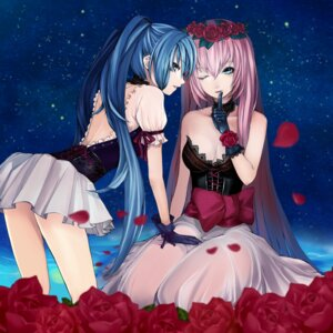 Rating: Safe Score: 81 Tags: cleavage hatsune_miku megurine_luka settyaro vocaloid User: Nekotsúh