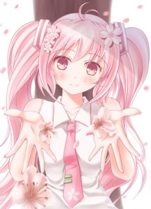 Rating: Safe Score: 53 Tags: hatsune_miku minamixdrops sakura_miku vocaloid User: ddns001