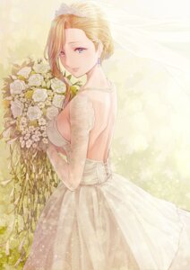 Rating: Safe Score: 24 Tags: azur_lane dress hood_(azur_lane) no_bra peppe wedding_dress User: charunetra