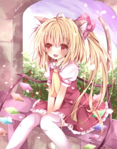 Rating: Safe Score: 47 Tags: animal_ears flandre_scarlet nanase_nao nekomimi tail thighhighs touhou wings User: 椎名深夏