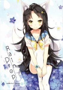 Rating: Safe Score: 102 Tags: animal_ears kitsune neko_no_onsen nyanya pantsu seifuku shimapan tail thighhighs User: van