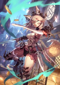 Rating: Safe Score: 46 Tags: animal_ears armor bikini heels katahira kitsune pointy_ears swimsuits sword tail thighhighs weapon User: nphuongsun93