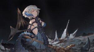 Rating: Safe Score: 13 Tags: armor blood dress horns masterwork_apocalypse_genesis tagme tail toriumi_harumi weapon wings User: Dreista