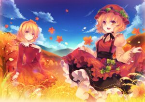 Rating: Safe Score: 20 Tags: aki_minoriko aki_shizuha shinia touhou User: fairyren