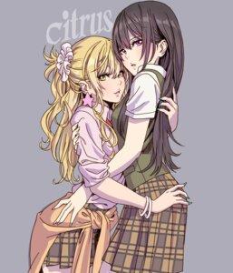 Rating: Safe Score: 27 Tags: aihara_mei aihara_yuzu_(citrus) citrus_(manga) seifuku sweater yamashita_shunya yuri User: Spidey