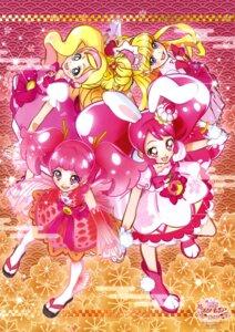 Rating: Safe Score: 4 Tags: animal_ears asahina_mirai bunny_ears dress go!_princess_pretty_cure haruno_haruka heels kirakira_precure_a_la_mode mahou_girls_precure! miyamoto_hiroshi pretty_cure sakura_(precure) see_through usami_ichika User: drop