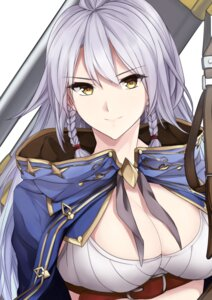Rating: Safe Score: 43 Tags: cleavage granblue_fantasy shirokuro silva_(granblue_fantasy) sword User: hamasen205