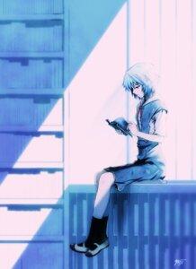 Rating: Safe Score: 40 Tags: ayanami_rei neon_genesis_evangelion seifuku yuuji User: charunetra