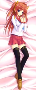 Rating: Questionable Score: 33 Tags: amane_sou asakura_misaki dakimakura idol_revolution seifuku thighhighs User: fireattack