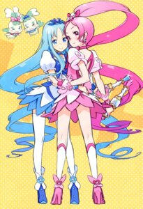 Rating: Safe Score: 30 Tags: chypre coffret dress granada_level9 hanasaki_tsubomi heartcatch_pretty_cure! kuroboshi_kouhaku kurumi_erika pretty_cure thighhighs User: fireattack