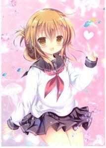 Rating: Questionable Score: 18 Tags: inazuma_(kancolle) kantai_collection milk_bar seifuku shirogane_hina skirt_lift User: Radioactive
