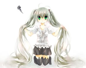 Rating: Safe Score: 10 Tags: hatsune_miku jin_rikuri thighhighs vocaloid world_is_mine_(vocaloid) User: yumichi-sama