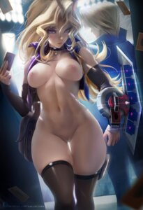 Rating: Explicit Score: 107 Tags: bottomless breasts jounouchi_katsuya mai_valentine nipples no_bra open_shirt pussy sakimichan thighhighs uncensored yugioh User: Mr_GT