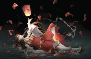Rating: Safe Score: 43 Tags: hakurei_reimu luomo miko touhou User: charunetra
