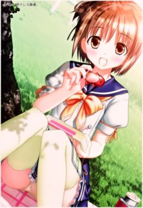 Rating: Questionable Score: 29 Tags: hiide nekomiya_nono pantsu seifuku thighhighs yotsunoha User: Onpu