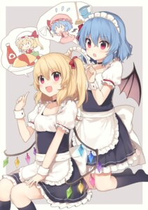 Rating: Safe Score: 55 Tags: flandre_scarlet maid remilia_scarlet touhou wings yada_(xxxadaman) User: Randeel