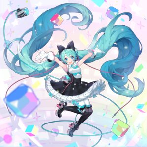 Rating: Safe Score: 43 Tags: dress hatsune_miku headphones heels pantyhose sadal vocaloid User: Mr_GT