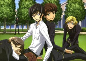 Rating: Safe Score: 2 Tags: code_geass gino_weinberg kururugi_suzaku lelouch_lamperouge male rivalz_cardemonde rollo_lamperouge seifuku User: Radioactive