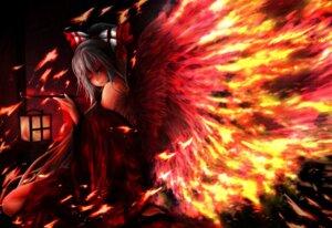 Rating: Safe Score: 14 Tags: fujiwara_no_mokou kimono taketiyi touhou wings User: demon2
