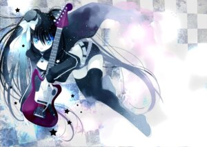 Rating: Safe Score: 34 Tags: black_rock_shooter black_rock_shooter_(character) guitar rami thighhighs vocaloid User: fireattack