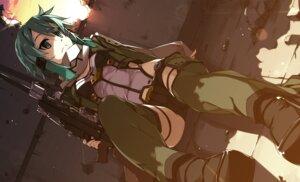 Rating: Safe Score: 19 Tags: garter gun gun_gale_online shikei sinon sword_art_online thighhighs User: Spidey