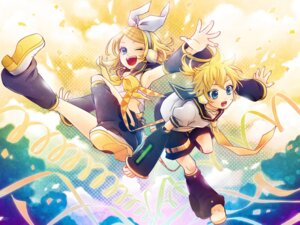 Rating: Safe Score: 6 Tags: headphones hima_(ab_gata) kagamine_len kagamine_rin vocaloid User: Nekotsúh