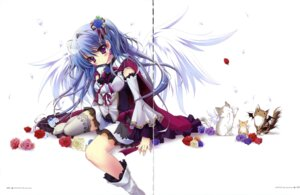 Rating: Safe Score: 75 Tags: dress gap hisuitei izumi_tsubasu thighhighs wings User: crim