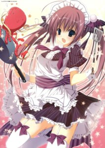 Rating: Safe Score: 54 Tags: fixed inugami_kira maid stockings thighhighs User: castle